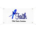 Colon Cancer Faith Banner