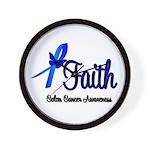 Colon Cancer Faith Wall Clock