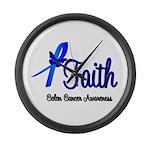 Colon Cancer Faith Large Wall Clock