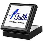 Colon Cancer Faith Keepsake Box