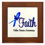 Colon Cancer Faith Framed Tile