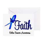 Colon Cancer Faith Greeting Card