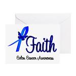 Colon Cancer Faith Greeting Cards (Pk of 10)