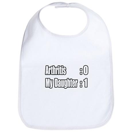 """Daughter Beats Arthritis"" Bib"
