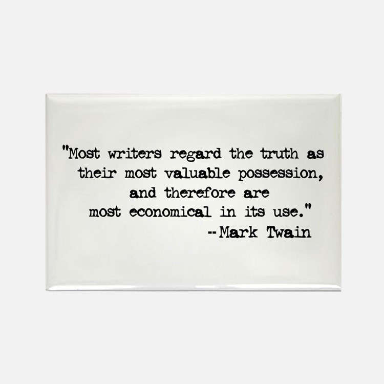 Twain Quote Rectangle Magnet