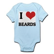 I Love Beards Infant Creeper