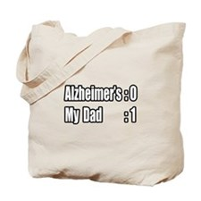 """Dad's Beating Alzheimer's"" Tote Bag"