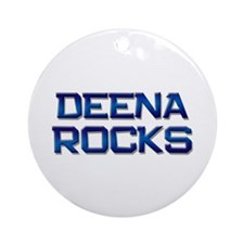 deena rocks Ornament (Round)
