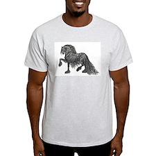 """Friesian Style""  Ash Grey T-Shirt"