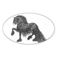 """Friesian Style"" Oval Decal"