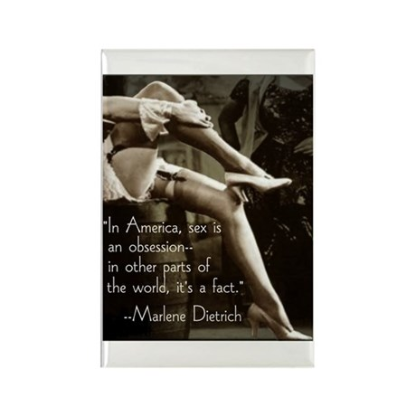 Marlene Dietrich Quote Rectangle Magnet