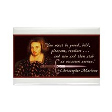 Marlowe Quote Rectangle Magnet