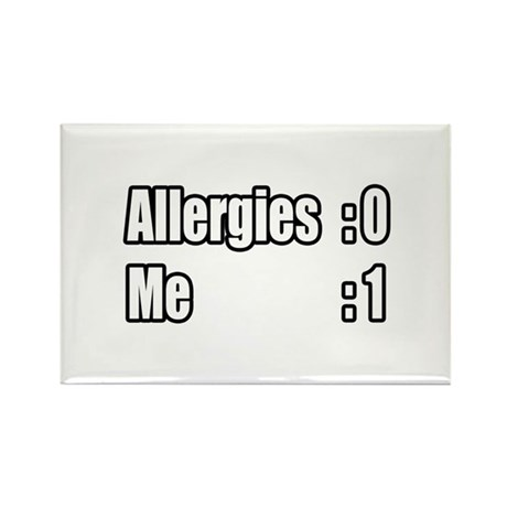 """""""I'm Beating My Allergies"""" Rectangle Magnet (100 p"""