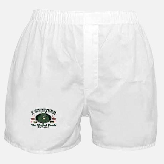 I survived the Market Crash 2009 Boxer Shorts