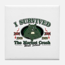 I survived the Market Crash 2009 Tile Coaster