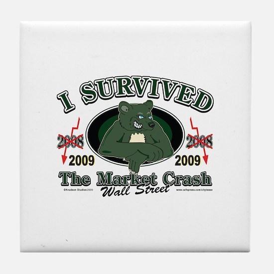 I survived the Market Crash 2009 Tile Coaster