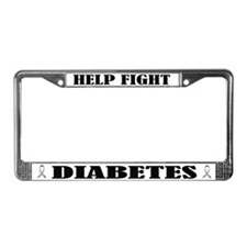 Fight Diabetes License Plate Frame