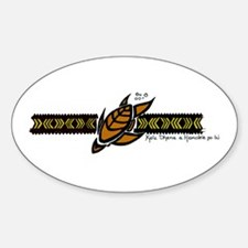 """FR""Designs Turtle Band Oval Decal"