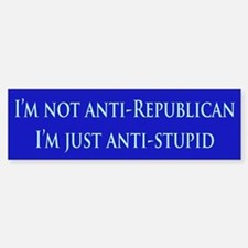 Anti-Republican Bumper Car Car Sticker