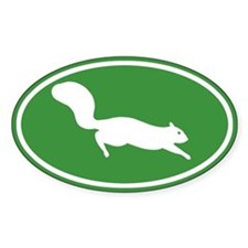 Squirrel Oval Decal