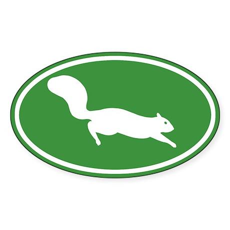 Squirrel Oval Sticker