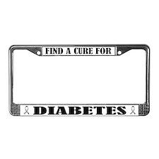 Diabetes Cure License Plate Frame