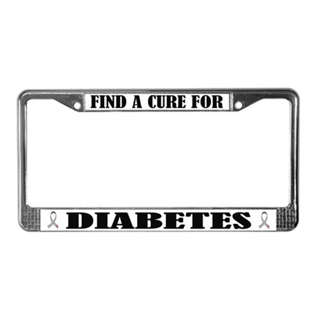 Diabetes Cure License Plate Frame