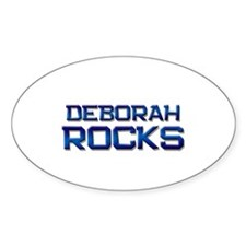 deborah rocks Oval Decal