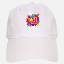Balloon and Stars 21st Birthday Baseball Baseball Cap
