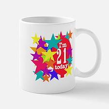 Balloon and Stars 21st Birthday Mug