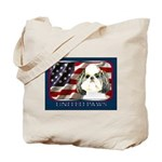 Shih Tzu Puppy Cut Flag Tote Bag