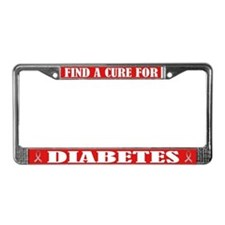 Diabetes Support License Plate Frame