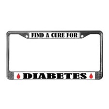 Cure Diabetes License Frame