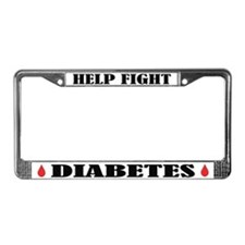 Help Fight Diabetes License Frame
