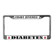 Juvenile Diabetes Awareness License Frame