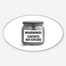 CONTENTS MAY EXPLODE Oval Decal