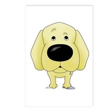 Big Nose Yellow Lab Postcards (Package of 8)
