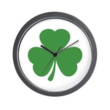 green shamrock irish Wall Clock