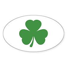 green shamrock irish Oval Bumper Stickers