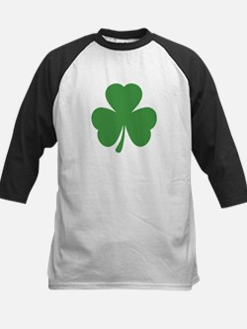 green shamrock irish Kids Baseball Jersey