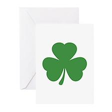 green shamrock irish Greeting Cards (Pk of 20)