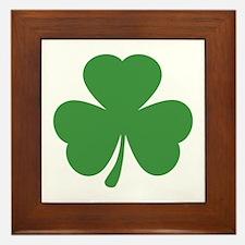 green shamrock irish Framed Tile