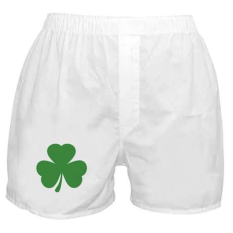 green shamrock irish Boxer Shorts