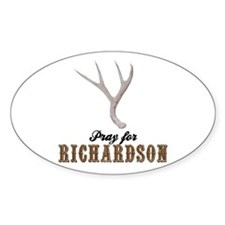 Pray for Richardson Oval Decal