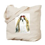 Gold Shih Tzu Portrait Tote Bag