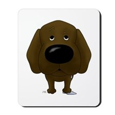 Big Nose Chocolate Lab Mousepad