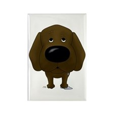 Big Nose Chocolate Lab Rectangle Magnet