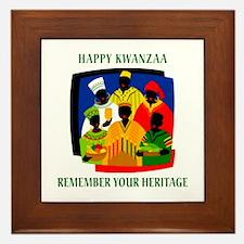 Happy Kwanzaa Framed Tile