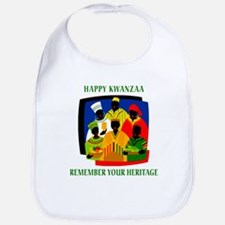 Happy Kwanzaa Bib