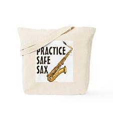 Practice Safe Sax - Tenor Tote Bag